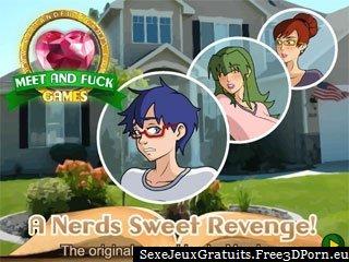 A Sweet Revenge Nerds avec de jeunes sexe cartoons
