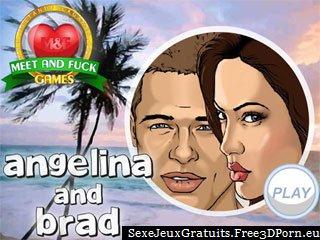 Angelina et Brad célébrités ayant un sexe de vacances