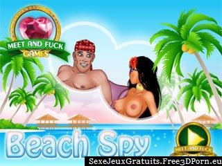 Plage sexe et porno voyeur à la plage nudiste