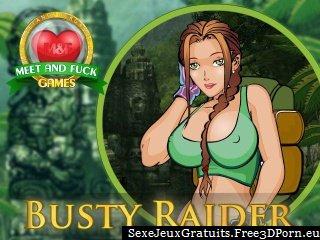 Baise Raider forte poitrine dans une tombe Roder Lara Croft jeu