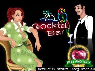 Baise des filles sexy dans un bar jeu de navigateur cocktail