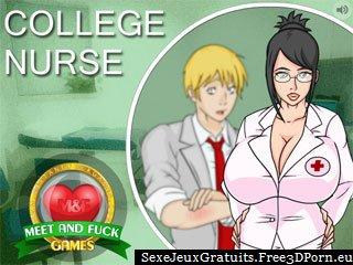 Collège Infirmière - étudiant jeu de baise scolaire