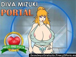 Diva Portail Mizuki avec des seins nus de bande dessinée