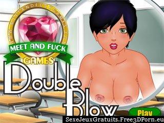 Double fellation dans un jeu érotique gratuit