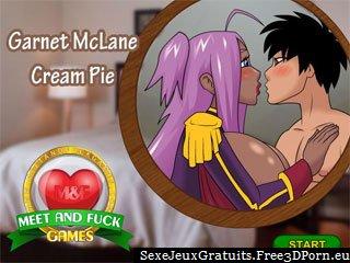 Garnet Cream Pie en bande dessinée jeu de sexe