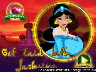 Baiser avec Jasmine dans jeu de sexe gratuit de bandes dessinées