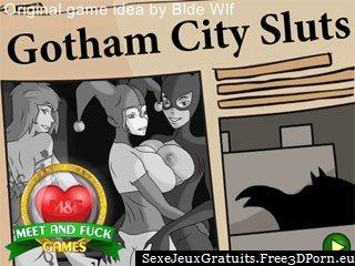Gotham City Sluts avec Batman et le sexe de dessin animé