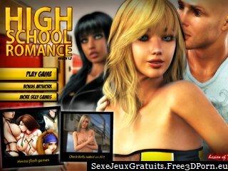 la romance de lycée avec des scènes de sexe de l'étudiant