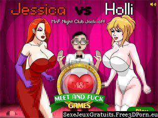 Jessica vs Holli rencontrer et baiser jeux flash adulte