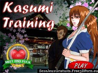 Chaud jeu d'anime hentai Kasumi de Dead or Alive