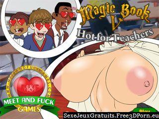 Magic Book 5: Hot pour les enseignants avec baise enseignant-élève