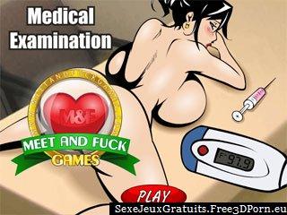 Examen médical à l'hôpital coquin baiser jeu
