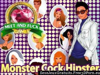 Monster Cock Hipster baise dans un jeu de la pornographie en ligne