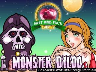 Baiser les filles de bande dessinée avec un gode Monster