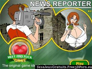 Reporter Nouvelles avec les journalistes sexy