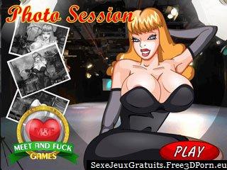 Séance photo érotique avec une blonde aux gros seins