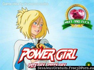Power Girl: Pity Sex, Titty jeu de sexe