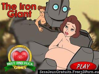 Le Géant de fer avec un gros pénis de robot