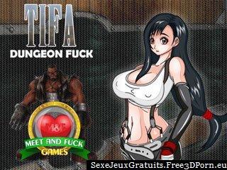 Tifa Dungeon baise dans le manga dernier jeu porno fantastique